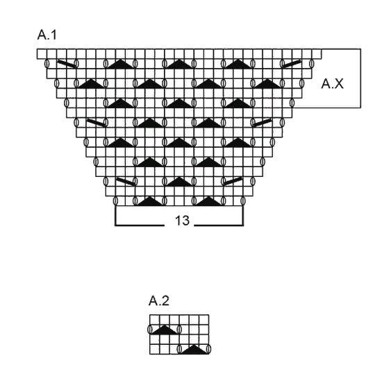 Реглан сверху. 7 образцов вязания с описанием