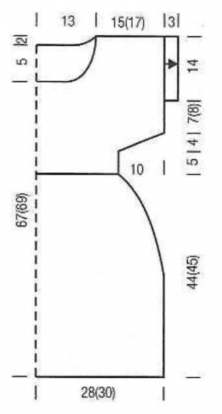 Туники спицами. 10 вязаных туник