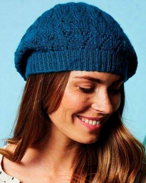 Вязаные шапки на весенний период. Береты, комплекты.