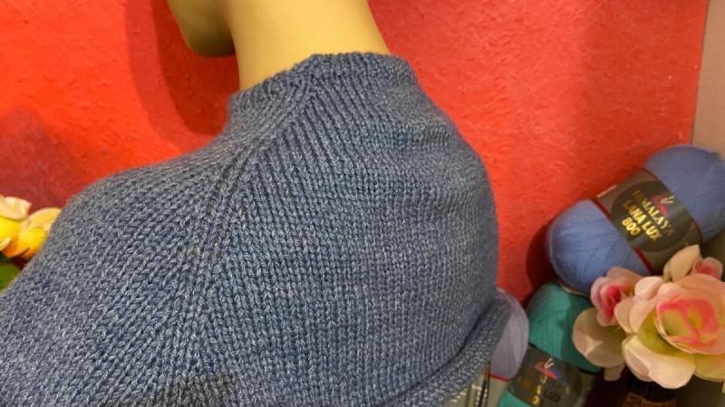 Вязание для меня сутулой. Необычный реглан сверху