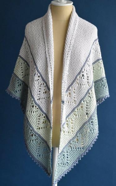 Фарерские и треугольные шали спицами, палантины крючком