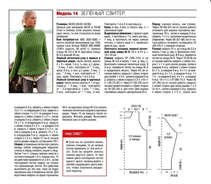 Вяжем спицами быстро и просто - модели с патентным узором