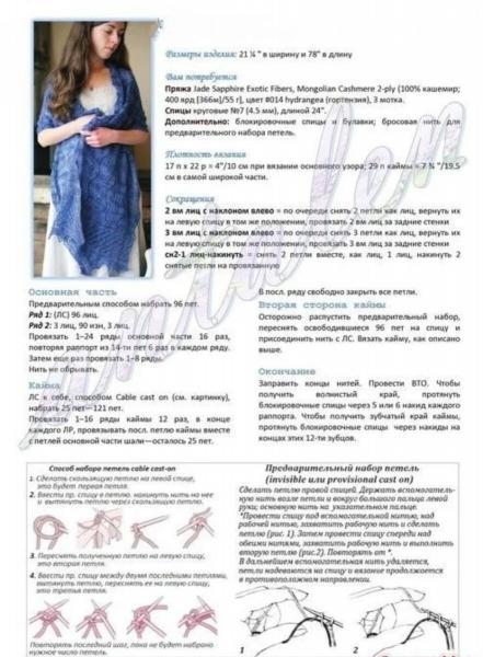 15 ажурных палантинов спицами
