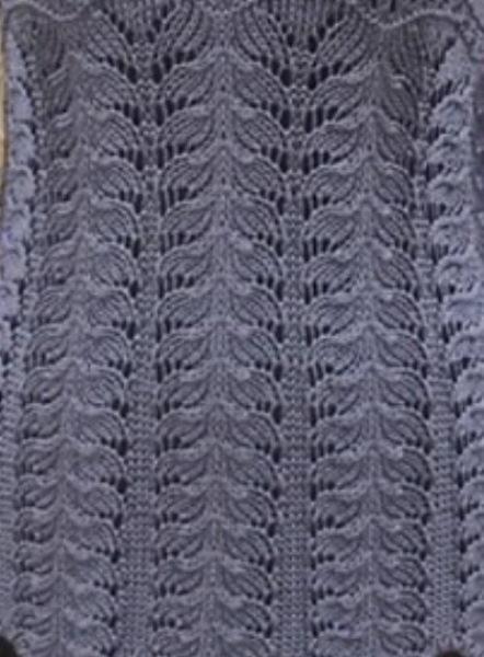23 ажурных узора спицами